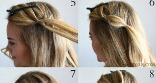 DIY-Frisur // Half-up-Pull durch Zopf-Tutorial.