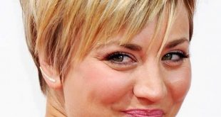 Kaley Cuoco Haircut: Kurze Frisuren für runde Gesichtsform
