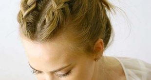 100 Trendy lange Frisuren für Frauen: Double Dutch Braided Messy Bun